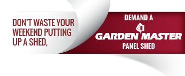 Demand a Garden Master Panel Shed